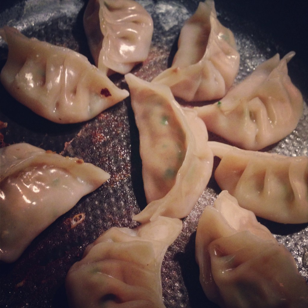 pot stickers cooking